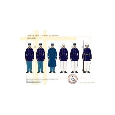 Pénitentiaire, Gardiens de prisons, 1890-1914