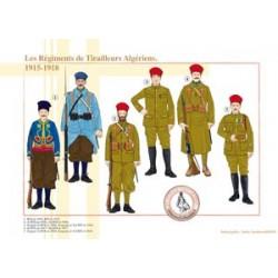 Algerische Tirailleurs-Regimenter, 1915-1918