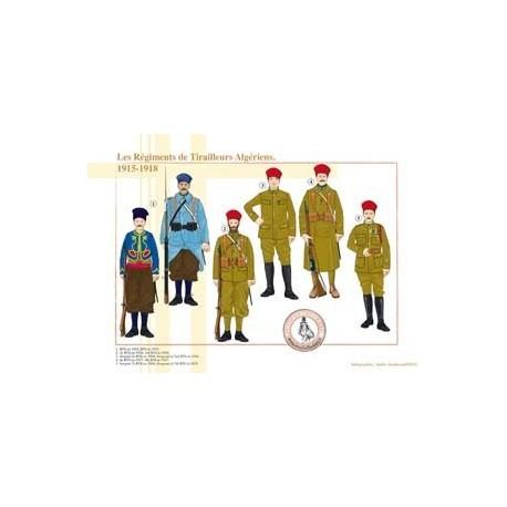 Les Régiments de Tirailleurs Algériens, 1915-1918