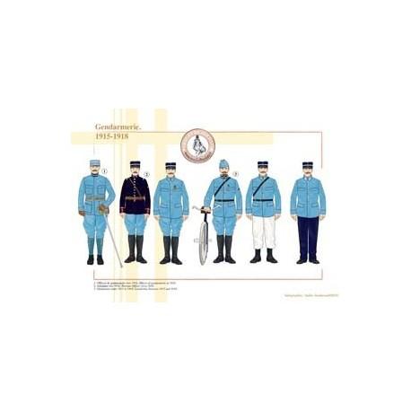 Gendarmerie, 1915-1918