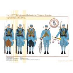 Le 122ème Régiment d'Infanterie, Tahure, Souain, septembre à fin 1915