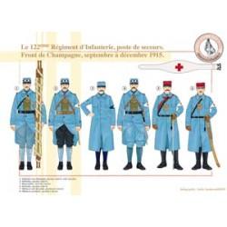 Le 122ème Régiment d'Infanterie, poste de secours. Front de Champagne, septembre à décembre 1915