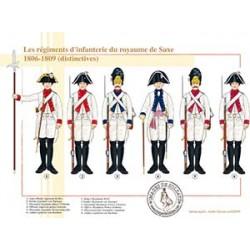 Les régiments d'infanterie du royaume de Saxe, les distinctives, 1806-1809
