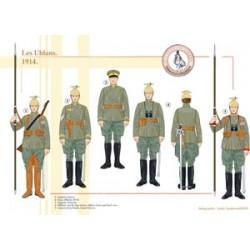 Les Uhlans prussiens, 1914