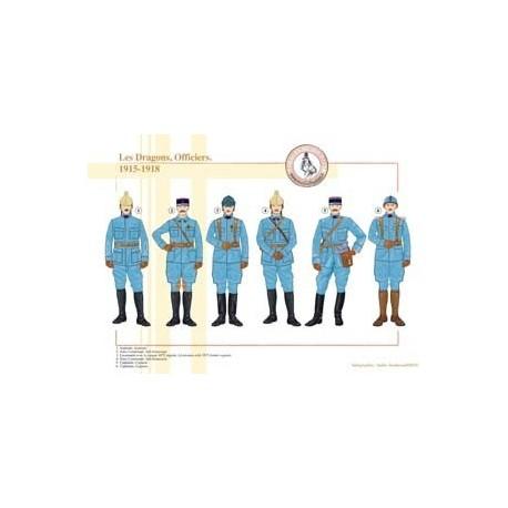 Les Dragons, Officiers, 1915-1918
