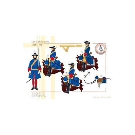 Les Carabiniers, 1710-1730