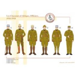 Die afrikanischen Jäger, Offiziere, 1916-1918