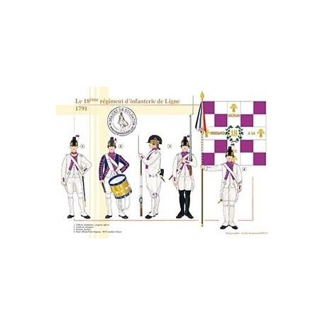 Le 18ème régiment d'infanterie de Ligne, 1791
