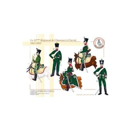 Le 11ème Régiment de Chasseurs à Cheval, 1813-1815
