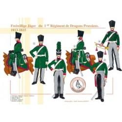 Freiwillige Jäger aus dem 1. Preußischen Drachenregiment, 1813-1815