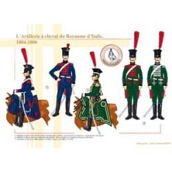 Pferdeartillerie des Königreichs Italien, 1804-1806
