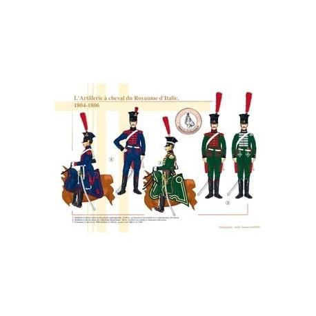 L'Artillerie à cheval du Royaume d'Italie, 1804-1806