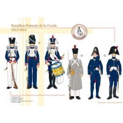 Pole Bataillon der französischen Kaiserlichen Garde, 1813-1814