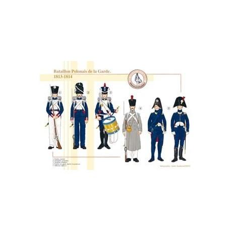 Bataillon de Polonais de la Garde Impériale, 1813-1814