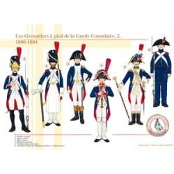 Les Grenadiers à pied de la Garde Consulaire (2), 1800-1804