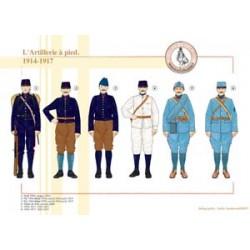 Französische Artillerie zu Fuß, 1914-1917