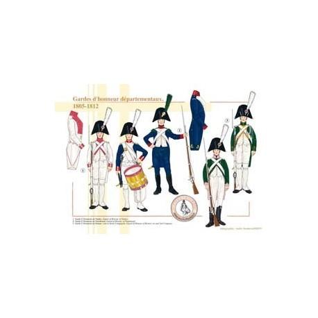 Gardes d'honneur départementaux, 1805-1812