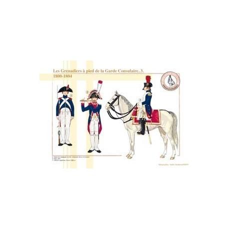Les Grenadiers à pied de la Garde Consulaire (3), 1800-1804