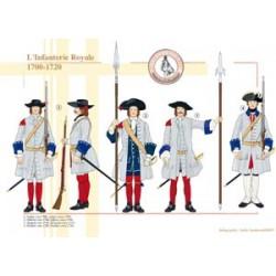 Die französische königliche Infanterie, 1700-1720