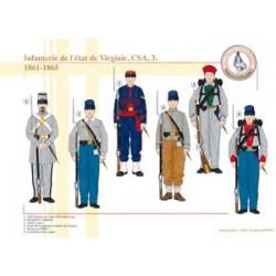 Infanterie de l'état de Virginie, CSA (3), 1861-1865