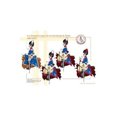 Les Dragons légers du Grand Duché de Bade, 1807-1814