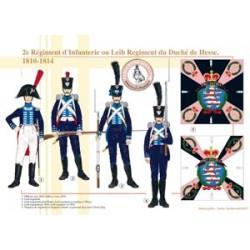 2e Régiment d'Infanterie ou Leib Regiment du Duché de Hesse, 1810-1814
