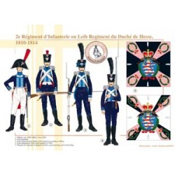 2nd Infantry Regiment or Leib Regiment of the Duchy of Hesse, 1810-1814