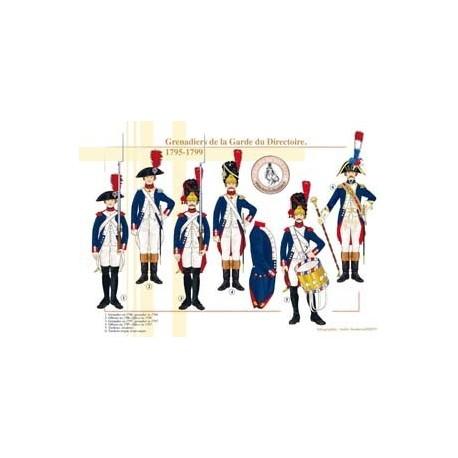 Grenadiers de la Garde du Directoire, 1795-1799