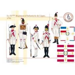 Le 51ème Régiment d'Infanterie de Ligne, 1791