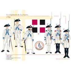 Das Regiment von La Sarre, 1786
