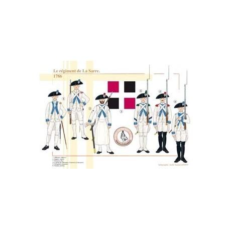 Le régiment de La Sarre, 1786