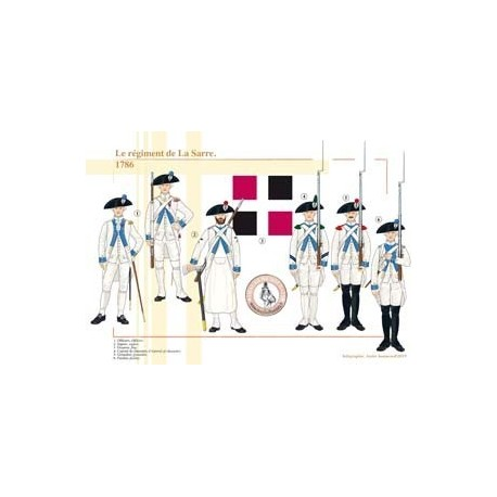 The regiment of La Sarre, 1786