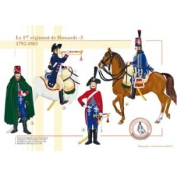 Le 1er régiment de Hussards (3), 1792-1803