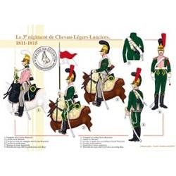 Le 3ème régiment de Chevau-Légers Lanciers, 1811-1815