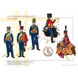 Das 4. Husarenregiment (2), 1791-1800