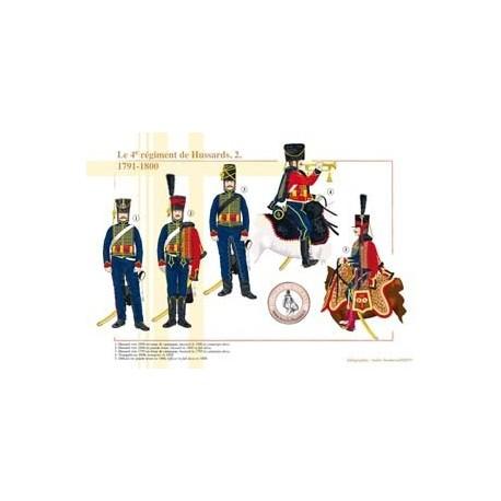 Le 4e régiment de Hussards (2), 1791-1800