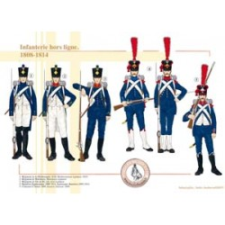 Französische Infanterie offline, 1808 bis 1814