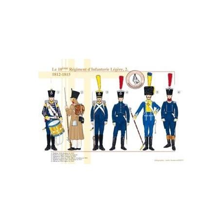 10ème Régiment d'Infanterie Légère (2), 1812-1815