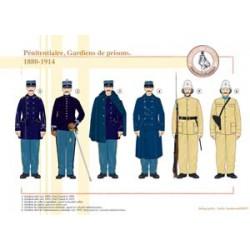 Pénitentiaire, Gardiens de prisons, 1880-1914