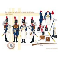 Der Infanterie-Sappeur, Bericht von Details, 1807-1812