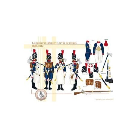Le Sapeur d'Infanterie, revue de détails, 1807-1812