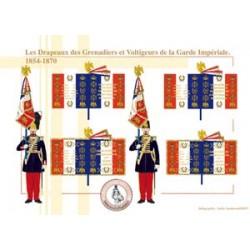 Die Flaggen der Grenadiere und Voltigeure der kaiserlichen Garde, 1854-1870