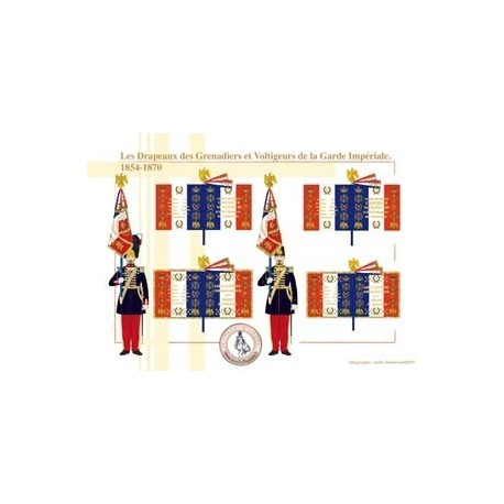 The Flags of the Grenadiers and Voltigeurs of the Imperial Guard, 1854-1870