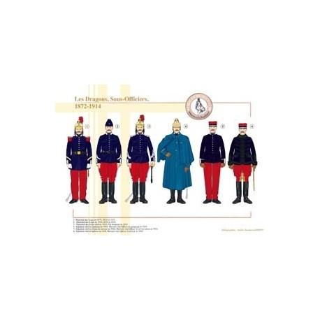 Les Dragons, Sous-Officiers, 1872-1914