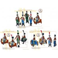 Les 13 et 14ème Régiment de Hussards, 1813-1814