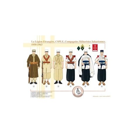 La Légion Étrangère, CSPLE, Compagnies Méharistes Sahariennes, 1950-1963