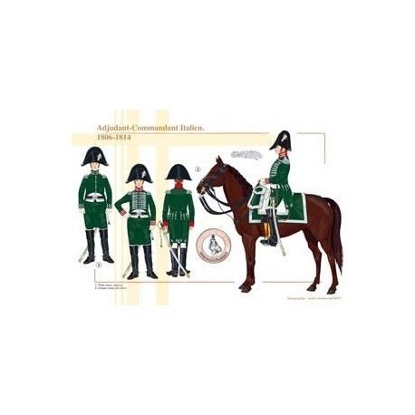 Adjudant-Commandant Italien, 1806-1814