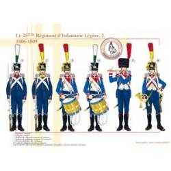 Das 25. französische Regiment der leichten Infanterie (2), 1806-1809