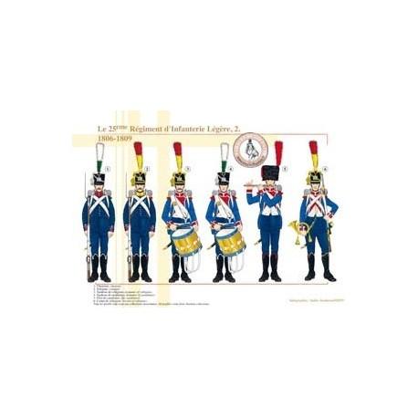 Le 25e Régiment d'Infanterie Légère (2), 1806-1809