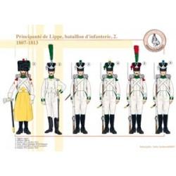 Fürstentum Lippe, Infanteriebataillon (2), 1807-1813